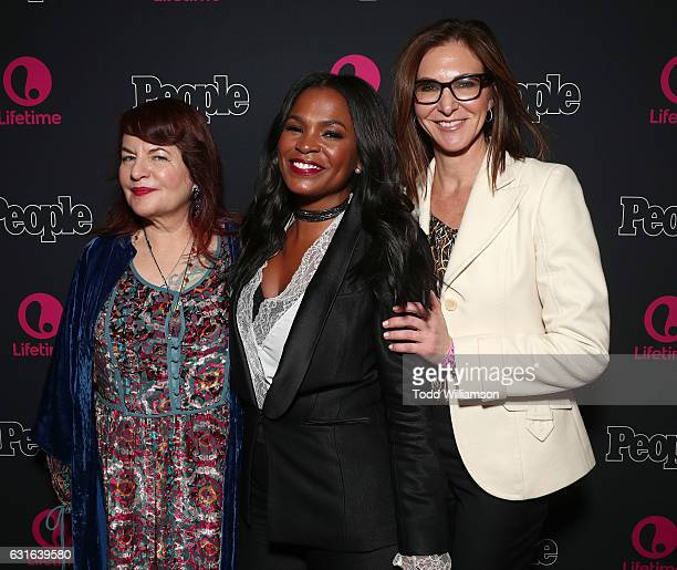 Executive Producer Allison Anders Nia Long and Executive Producer Alison Greenspan attend the premiere Screening Of Lifetime Television's 'Beaches'...