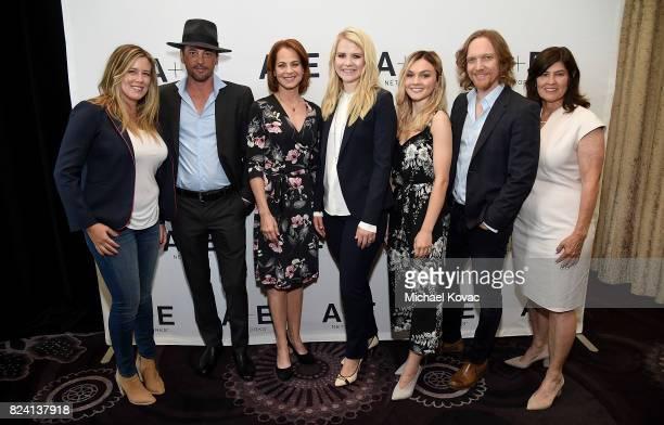 Executive producer Allison Berkley, actor Skeet Ulrich, actor Deirdre Lovejoy, narrator/producer Elizabeth Smart, actor Alana Boden, executive...