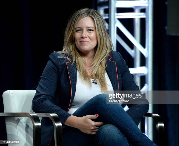 Executive producer Allison Berkley of 'I Am Elizabeth Smart' speaks onstage during the Lifetime and A+E Networks portion of the 2017 Summer...