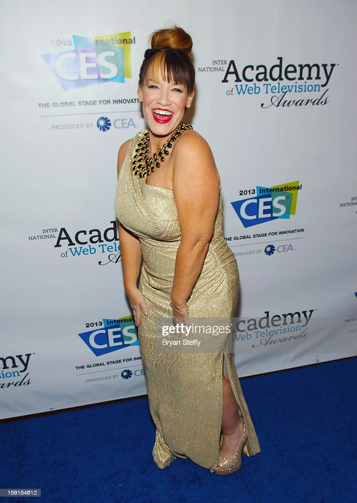 Executive producer Amber Lawson arrives at the IAWTV Awards at the CES 2013 Show at the Palazzo Theater at the Palazzo Resort Hotel/Casino on January 8, 2013 in Las Vegas, Nevada.