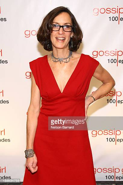 Executive producer Amy Kaufman attends the Gossip Girl 100 episode celebration at Cipriani Wall Street on November 19 2011 in New York City