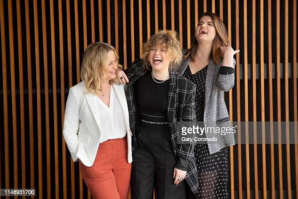 Executive producer Amy Poehler, actress Natasha Lyonne and executive producer Leslye Headland are photographed for Los Angeles Times on April 7, 2019...