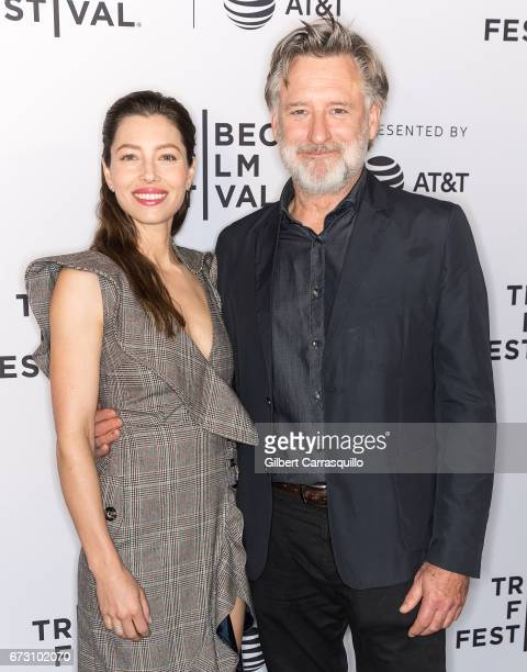 Executive producer and cast member Jessica Biel and actor Bill Pullman attend 'The Sinner' premiere during 2017 Tribeca Film Festival at SVA Theatre...