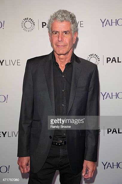 Executive producer and chef Anthony Bourdain attends The Paley Center for Media hosts 'Parts Unknown' And Beyond A Conversation With Anthony Bourdain...