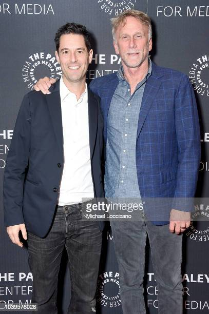 "Executive producer and creator David Schulner and executive producer and director Peter Horton attend NBC's special preview of ""New Amsterdam"" at The..."