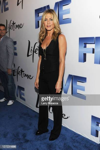 Executive Producer and Director Jennifer Aniston attends the premiere of Lifetime's Five from Jennifer Aniston Demi Moore Alicia Keys at Skylight on...