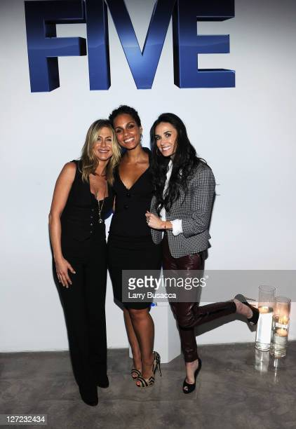 Executive Producer and Director Jennifer Aniston Director Alicia Keys and Director Demi Moore attend the premiere of Lifetime's Five from Jennifer...