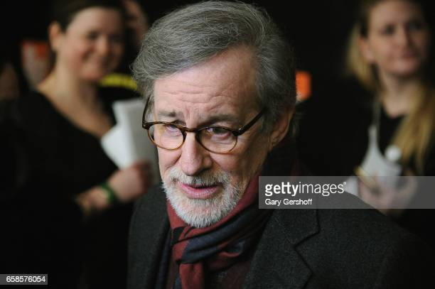 Executive producer and interview subject Steven Spielberg attends the Five Came Back world premiere at Alice Tully Hall at Lincoln Center on March 27...