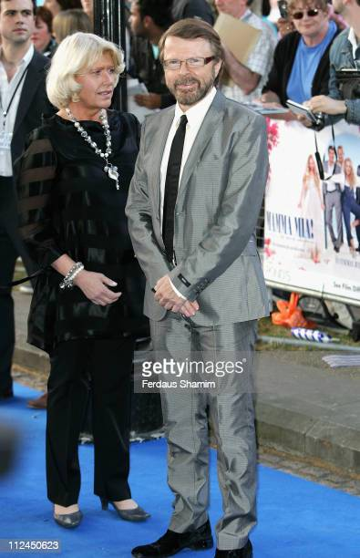 Executive Producer and member of Abba Bjorn Ulvaeus and guest attends the Mamma Mia The Movie world premiere held at the Odeon Leicester Square on...