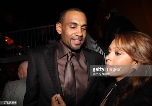 Executive Producer and NBA Player Grant Hill and wife recording artist Tamia Hill attend the premiere of Starting at the Finish Line The Coach...