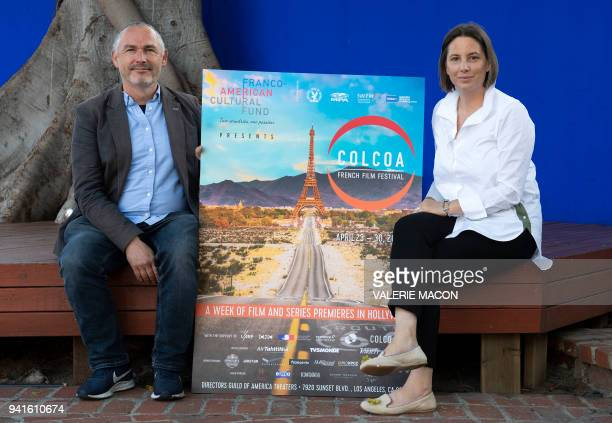 Executive Producer and Programmer Francois Truffart and COLCOA Deputy Director Anouchka Van Riel attend the announcement of the 22nd Edition Program...