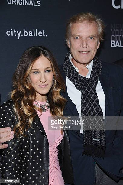 Executive producer and series narrator, Sarah Jessica Parker and New York City Balletmaster Peter Martins attend the New York series premiere of...