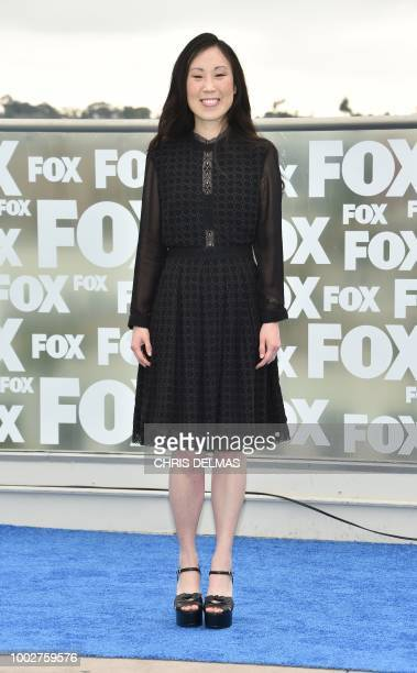 Executive producer Angela Kang arrives for 'The Walking Dead' photo call at ComicCon International 2018 in San Diego California on July 20 2018