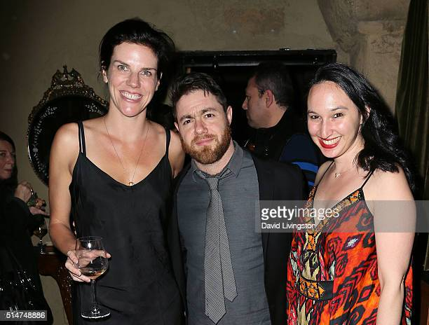 Executive producer Annabelle Dunne writer/director Jacob Bernstein and producer Carly Hugo attend a reception following the premiere of HBO's...