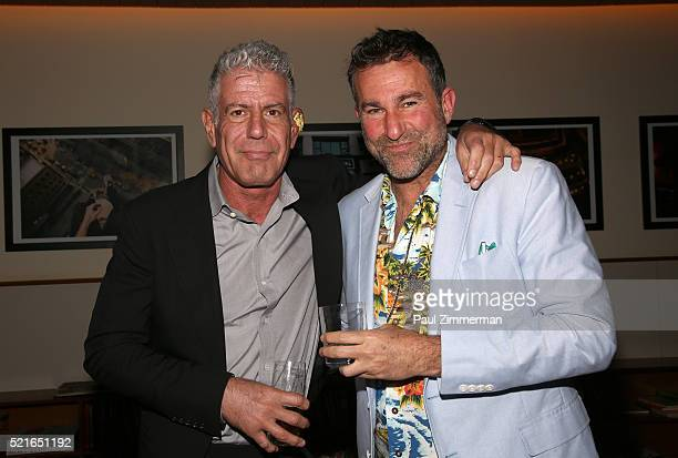 Executive Producer Anthony Bourdain and Ken Friedman attend the CNN Films and ZPZ Production premiere party celebrating Jeremiah Tower The Last...