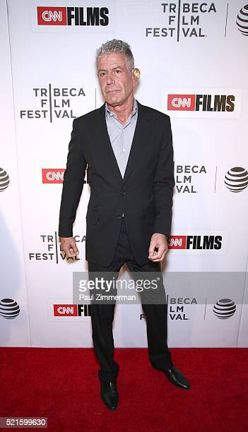 Executive Producer Anthony Bourdain at CNN Films Jeremiah Tower The Last Magnificent at TFF Panel Party on April 16 2016 in New York City...