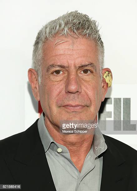 Executive Producer Anthony Bourdain attends Tribeca Talks After The Movie Jeremiah Tower The Last Magnificent at BMCC John Zuccotti Theater on April...