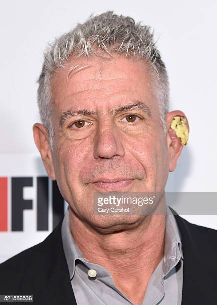 Executive producer Anthony Bourdain attends Tribeca Talks After the Movie 'Jeremiah Tower The Last Magnificent' during the 2016 Tribeca Film Festival...