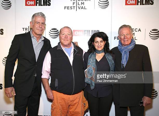Executive Producer Anthony Bourdain Chef Mario Batali Director Lydia Tenaglia and Film subject chef Jeremiah Tower at CNN Films Jeremiah Tower The...
