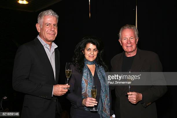 Executive Producer Anthony Bourdain Director Lydia Tenaglia and Film subject chef Jeremiah Tower at CNN Films Jeremiah Tower The Last Magnificent at...