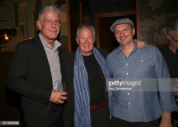 Executive Producer Anthony Bourdain Film Subject Chef Jeremiah Tower and Chef Andrew Carmellini attends the CNN Films and ZPZ Production premiere...