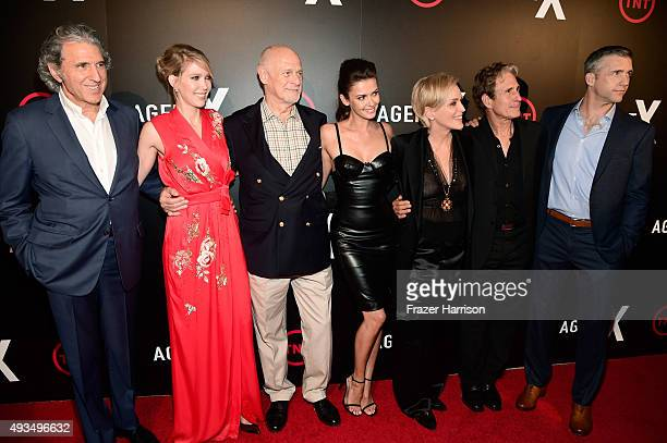 Executive Producer Armyan Bernstein actors Carolyn Stotesbery Gerald McRaney Sharon Stone John Shea and Jeff Hephner attend TNT's Agent X screening...