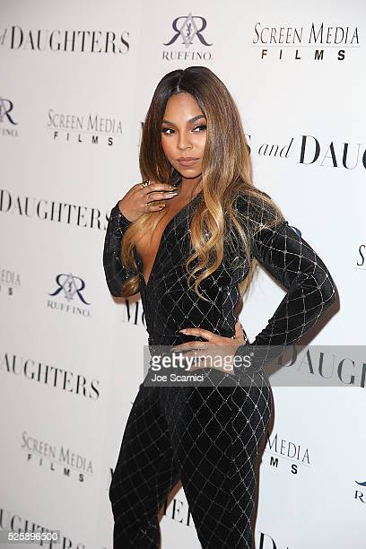 Executive producer Ashanti arrives a tthe pemiere of Screen Media Film's MOTHERS AND DAUGHTERS at The London West Hollywood on April 28 2016 in West...