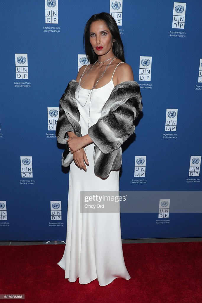 Executive Producer, author, and host Padma Lakshmi attends the United Nations Development Programme (UNDP) Inaugural Global Goals Gala: A Night for Change at Phillips in Manhattan on December 5, 2016 in New York City. (Photo by Cindy Ord/Getty Images for United Nations Development Programme (UNDP))