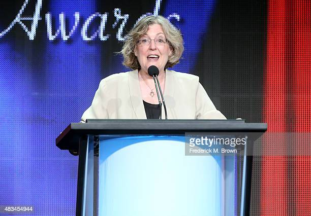 Executive producer Barbara Gaines accepts the TCA Heritage Award for the 'Late Show with David Letterman' onstage during the 31st annual Television...