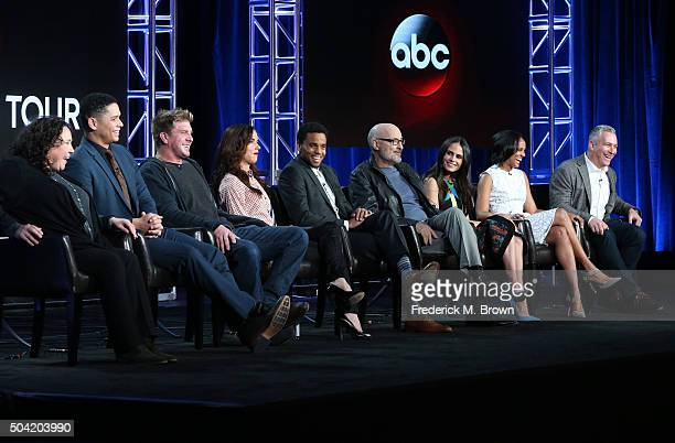 Executive producer Barbie Kligman actors Charlie Barnett Kenny Johnson Juliette Lewis Michael Ealy Terry O'Quinn Jordana Brewster Mekia Cox and...