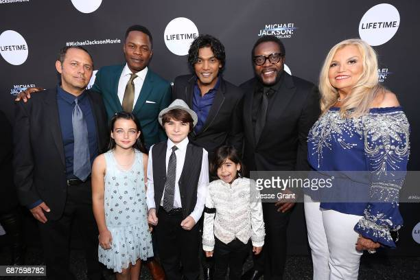 Executive producer Bob Teitel actors Sam Adegoke Taegen Burns Aidan Hanlon Smith Navi Michael Mourra Chad L Coleman and executive producer Suzanne de...