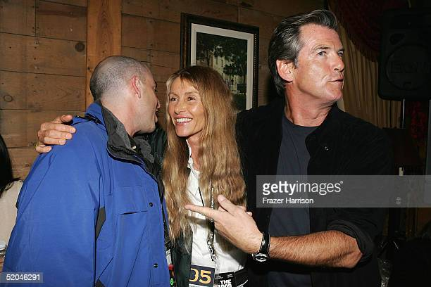 Executive producer Bob Yari, producer Beau St. Clair and actor Pierce Brosnan arrive at the Matador Premiere Party at Easy Street Brasserie during...