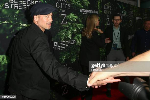 Executive producer Brad Pitt attends the premiere of Amazon Studios' 'The Lost City Of Z' at ArcLight Hollywood on April 5 2017 in Hollywood...