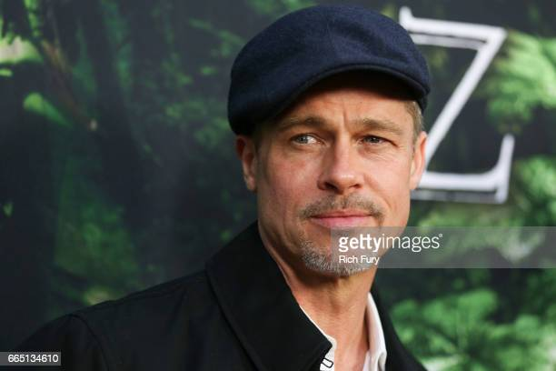 Executive producer Brad Pitt attends the premiere of Amazon Studios' 'The Lost City Of Z' at ArcLight Hollywood on April 5, 2017 in Hollywood,...