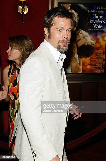 Executive producer Brad Pitt attends the premiere of The Time Traveler's Wife at the Ziegfeld Theatre on August 12 2009 in New York City