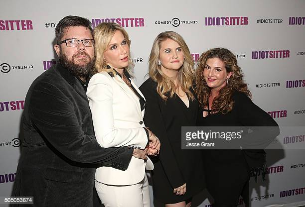 Executive producer Brady McKay actress Charlotte Newhouse actress Jillian Bell and executive producer Amy Slomovitz attend Comedy Central's...