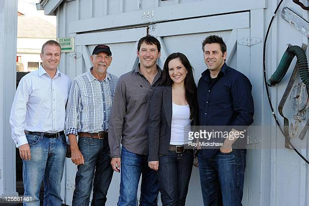 Executive Producer Brett Gamble Executive Producer Jamie Selkirk Actor Cohen Holloway Actress Inge Rademeyer and Writer/Director Mike Wallis of Good...