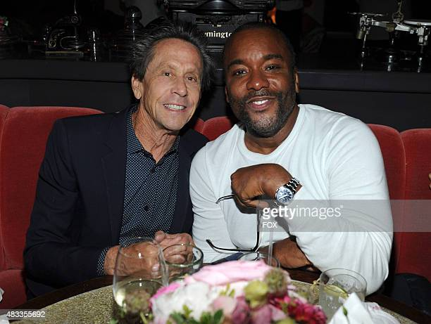 Executive Producer Brian Grazer and Creator/Writer/Executive Producer Lee Daniels celebrate at the 2015 FOX ALLSTAR PARTY Thursday Aug 6 at a private...