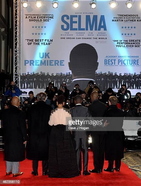 Executive Producer Cameron McCracken actor Tom Wilkinson director Ava DuVernay actor David Oyelowo and producer Paul Garnes attend the European...