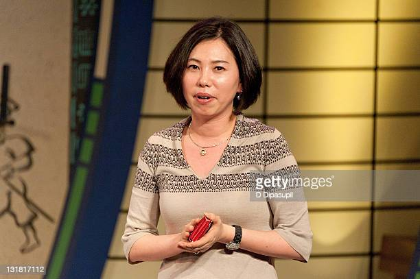 Executive Producer Cara Han speaks at the press preview of Jump at New World Stages on May 9 2011 in New York City