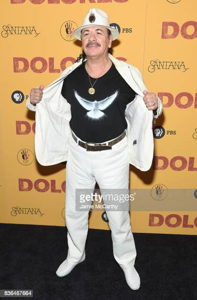 Executive Producer Carlos Santana attends the 'Dolores' New York Premiere at The Metrograph on August 21 2017 in New York City