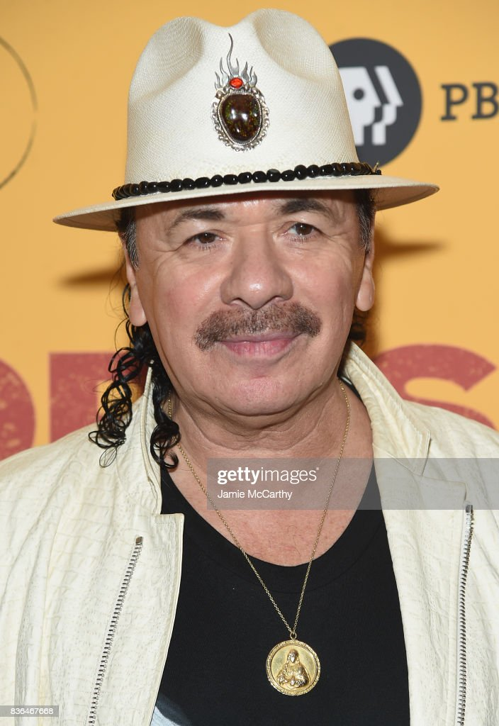 Executive Producer Carlos Santana attends the 'Dolores' New York Premiere at The Metrograph on August 21, 2017 in New York City.