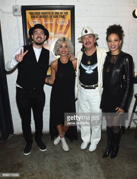 Executive Producer Carlos Santana with wife Cindy Blackman daughter Stella Santana and her husband attend the 'Dolores' New York Premiere at The...