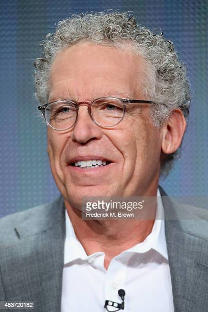 Executive producer Carlton Cuse speaks onstage during the USA Networks' 'Colony' panel discussion at the NBCUniversal portion of the 2015 Summer TCA...