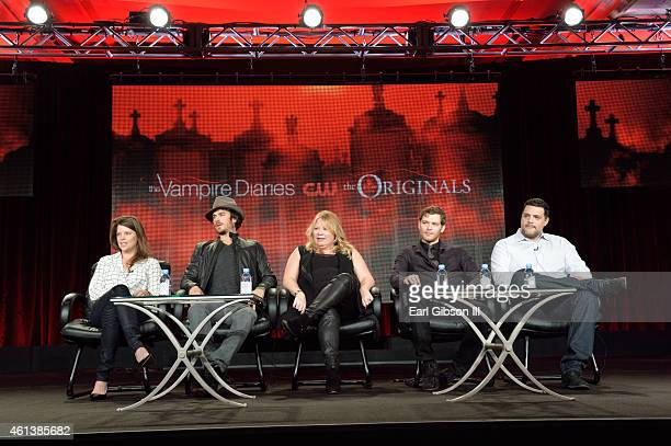 Executive Producer Caroline Dries Actor Ian Somerhalder Executive Producer Julie Plec Actor Joseph Morgan and Executive Producer Michael Marducci all...