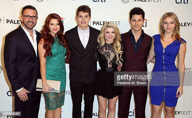 Executive Producer Carter Covington actress Katie Stevens actor Gregg Sulkin actress Bailey De Young actor Michael J Willett and actress Rita Volk...