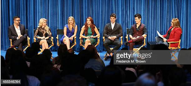 Executive Producer Carter Covington actresses Bailey De Young Rita Volk and Katie Stevens and actors Greg Sulkin and Michael J Willett and moderator...