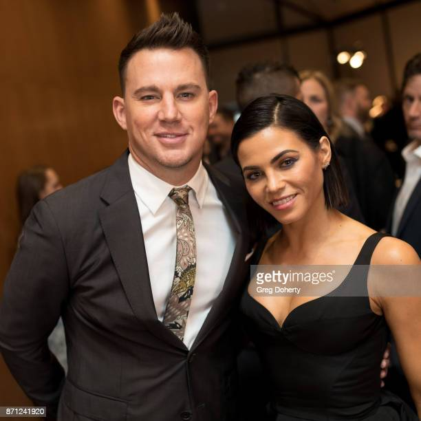 Executive Producer Channing Tatum and wife Jenna Dewan Tatum attend the HBO And Army Ranger Lead The Way Fun Present The Premiere Of War Dog A...