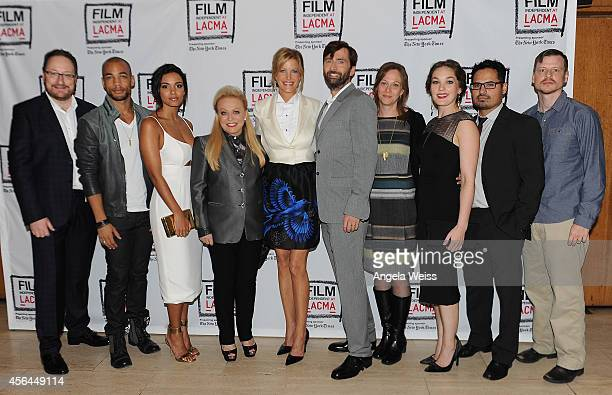Executive producer Chris Chibnall actors Kenrick Sampson Jessica Lucas Jacki Weaver Anna Gunn David Tennant executive producer Anya Epstein actors...