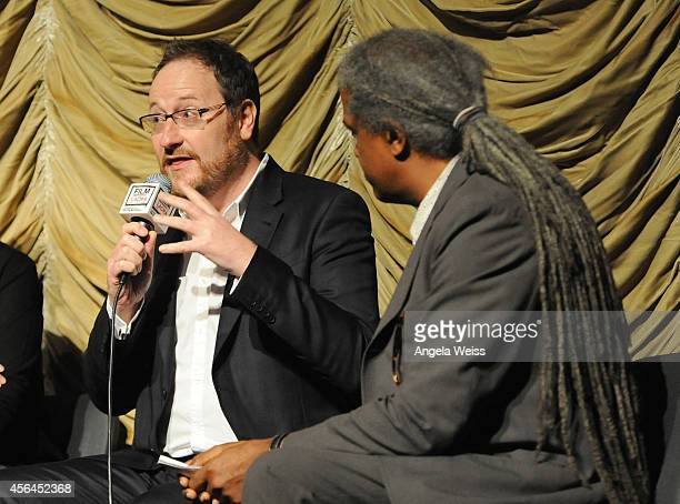 Executive producer Chris Chibnall and Film Independent curator Elvis Mitchell attend the Film Independent Screening and QA of 'Gracepoint' at Bing...